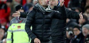Post de El enfado del peor Guardiola de siempre: dos manos, un 'recado' y 9 puntos de distancia