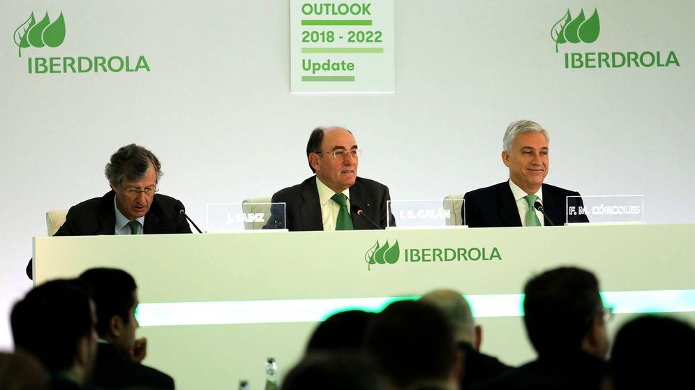 Foto: Sainz, Galán y Córcoles, durante el Capital Markets Day de Iberdrola. (Foto cedida por Iberdrola)
