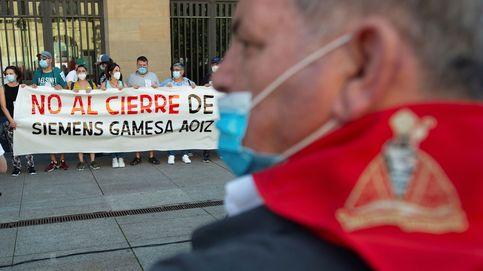 El comité de Gamesa en Aoiz convoca cinco días de huelga contra el cierre
