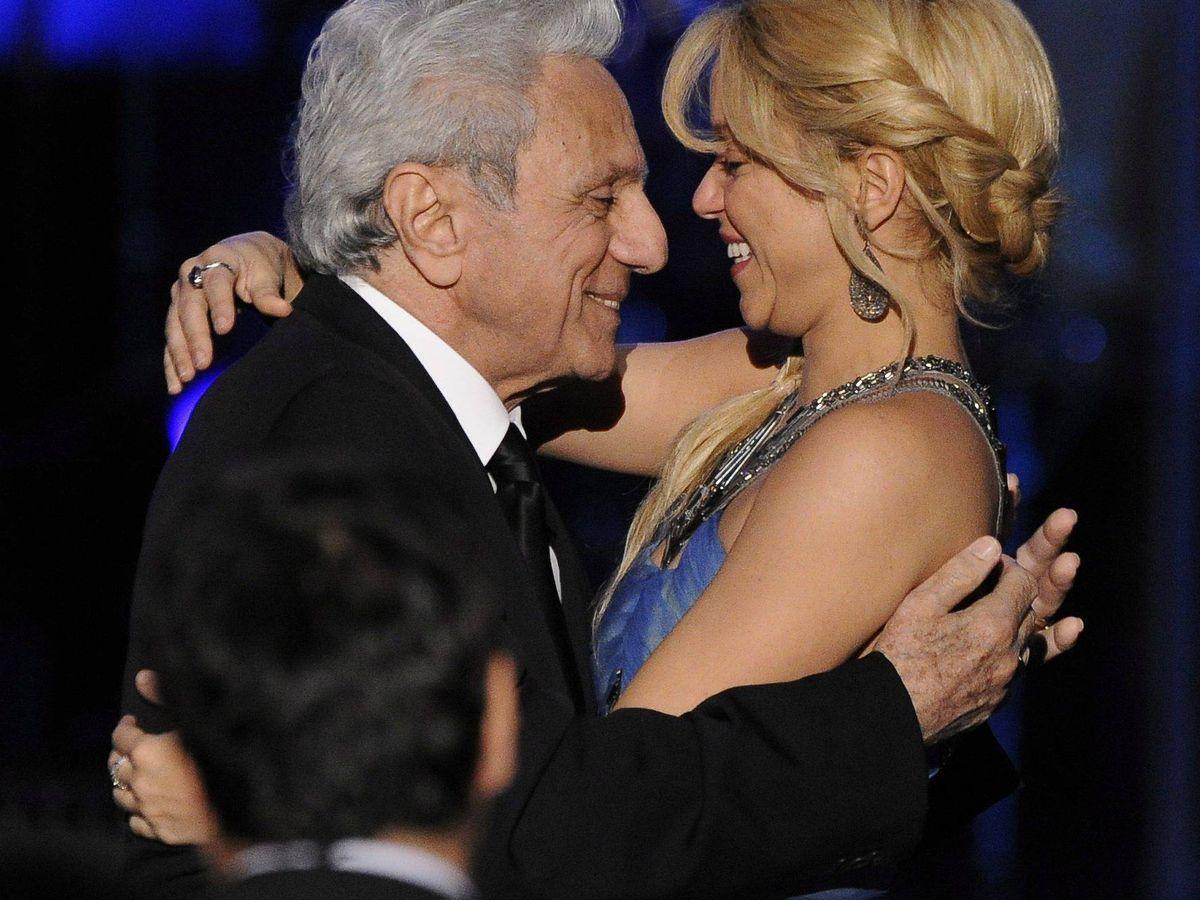 Foto: William Mebarak con su hija pequeña, Shakira. (EFE)