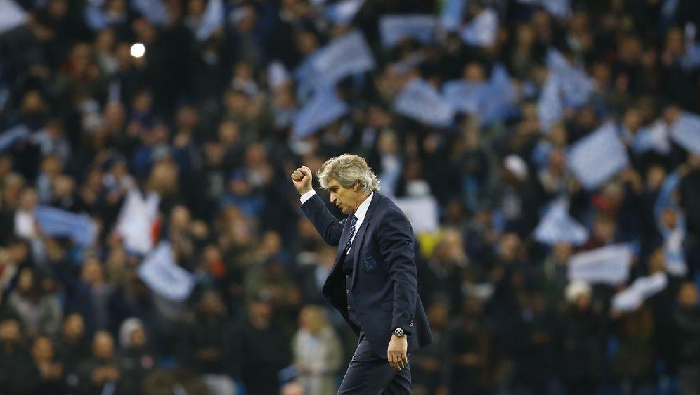 Foto: Pellegrini celebra la clasificación del City para las semifinales de la Champions. (Reuters)