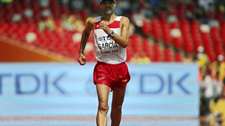 Jesús Ángel García Bragado, en la prueba de 50 km marcha del Mundial de Atletismo de 2015. (EFE)