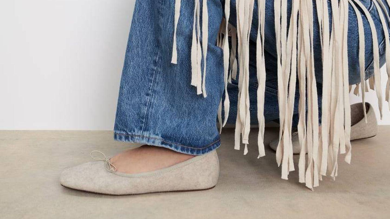 Zapatillas de fieltro de Zara. (Cortesía)