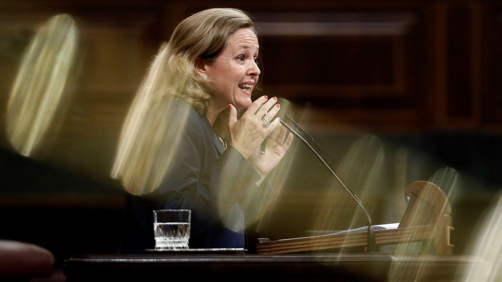 Foto: La ministra de Economía y Empresa, Nadia Calviño