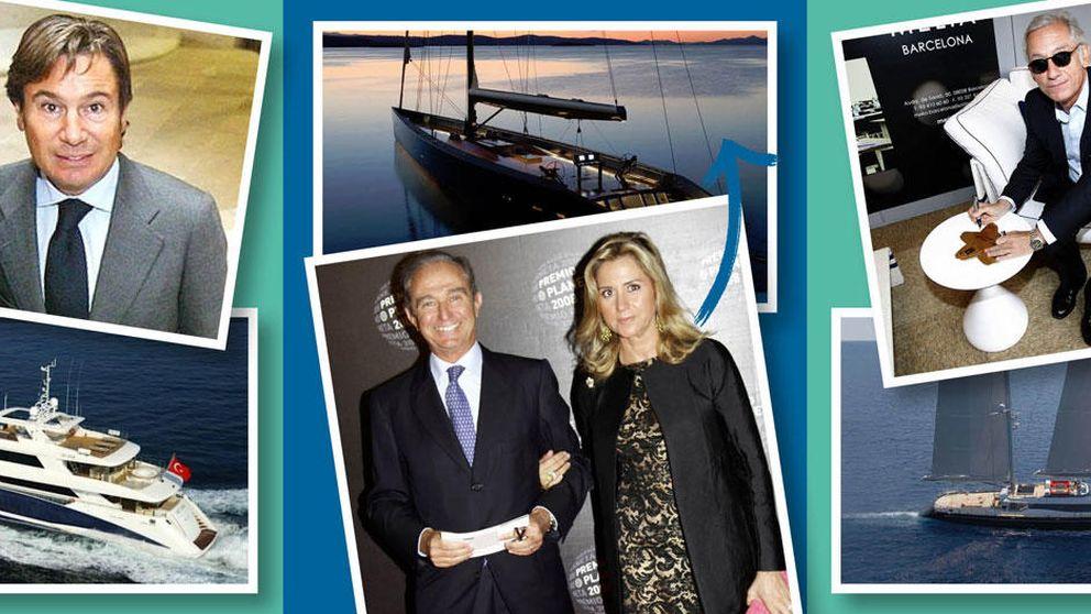 Los ricos españoles pasean sus yates por las aguas de Baleares