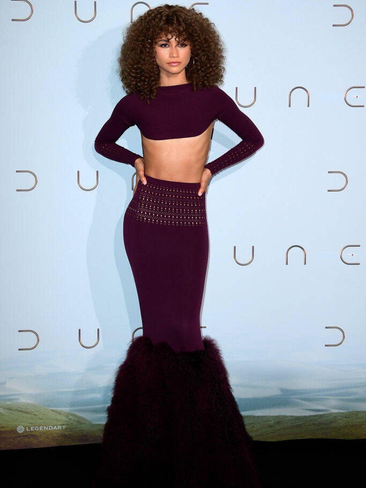 Zendaya, en la presentación de 'Dune' en el photocall de Le Grand Rex de París. (Getty)