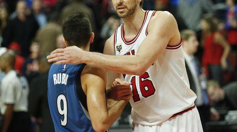 Rubio y los novatos de Timberwolves acabaron con los Bulls de un gran Gasol