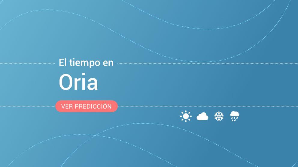 Previsión meteorológica en Oria: alerta amarilla por tormentas