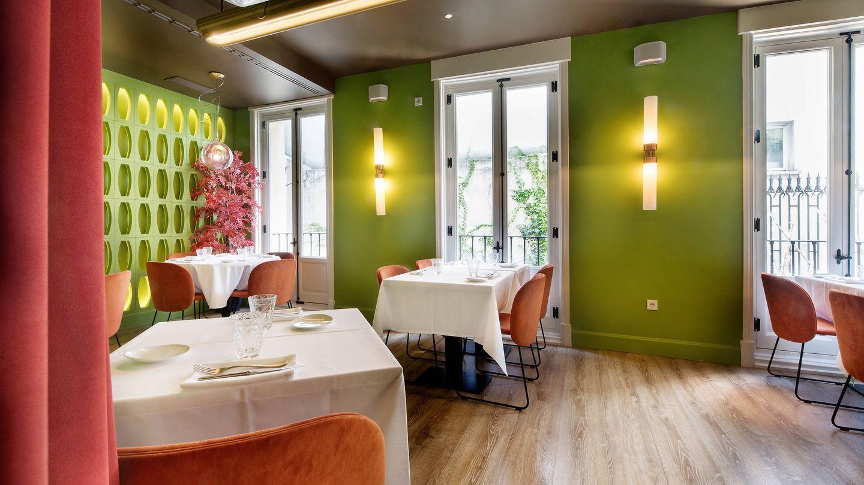 Sala verde del restaurante Noi.