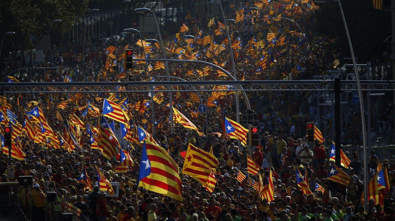 Foto: Celebracion de la Diada en Cataluña. (AP)