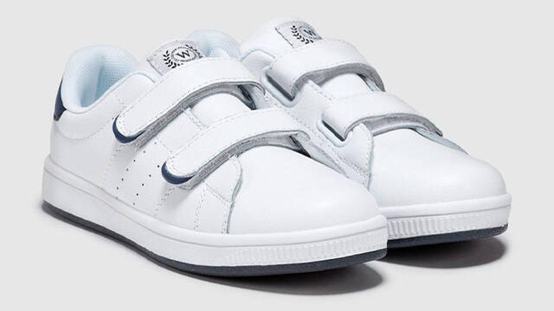 Zapatillas deportivas Winner de piel vacuna en blanco