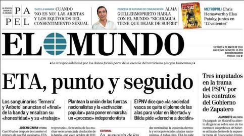 Así cubren 28 diarios españoles el fin de ETA en sus portadas
