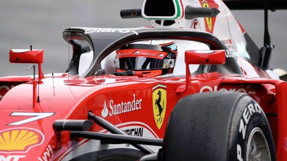 El Ferrari de Raikkonen, el más rápido el día que el 'halo' se estrenó en la F1