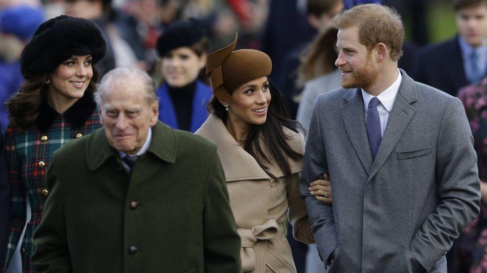 Foto: Meghan Marhle junto a la Familia Real en Sandringham. (Gtres)