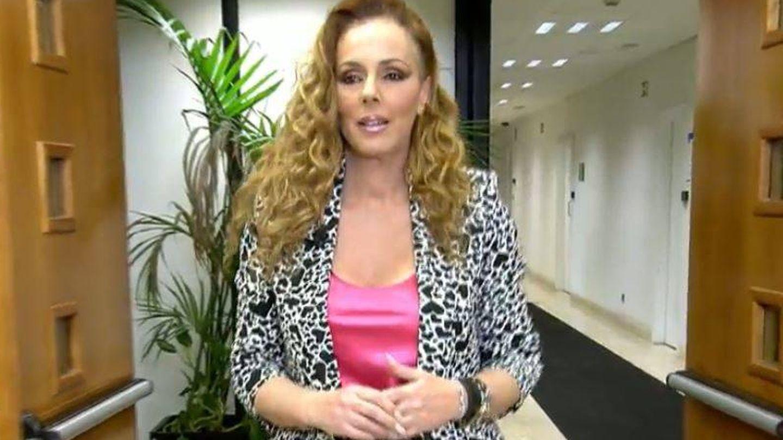 Rocío Carrasco, a su entrada. (Mediaset)
