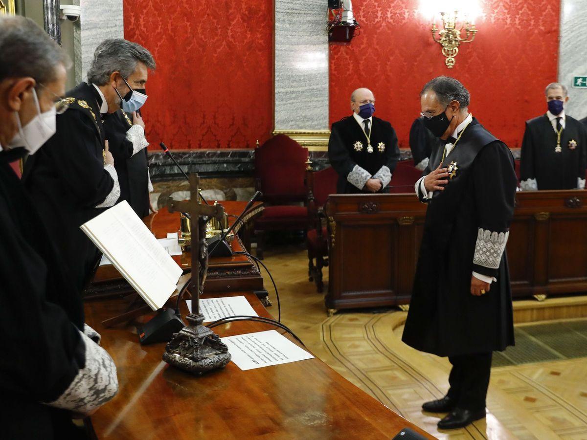 Foto: Toma de posesión de los magistrados de la Sala Segunda del Supremo. (EFE)