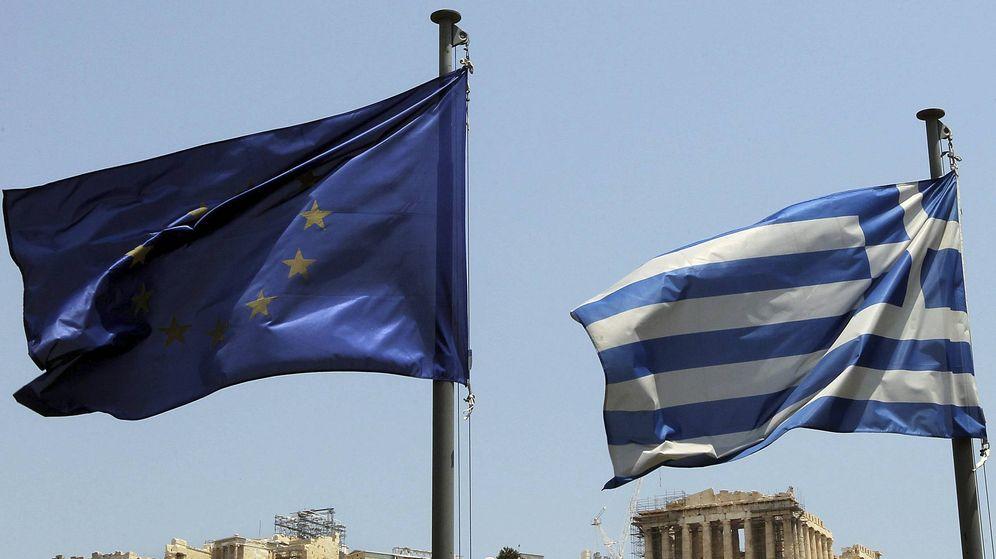 Foto: Bandera de la UE en la Acrópolis. (EFE)