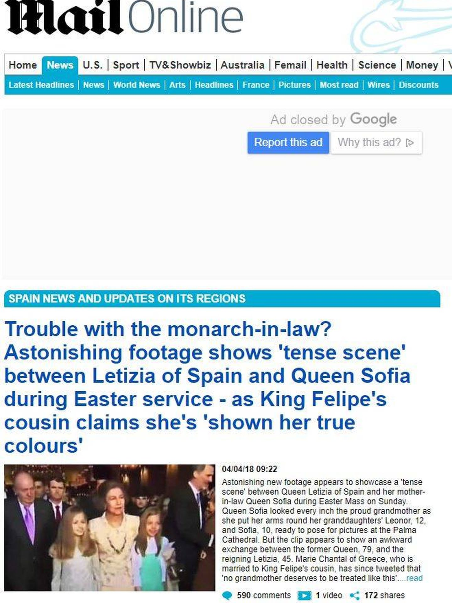 Portada del 'Daily Mail'