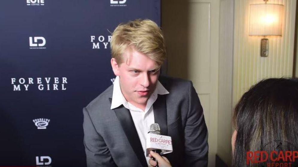Foto: Jackson Odell, en una entrevista con Red Carpet Report a propósito del estreno de 'Forever my girl'