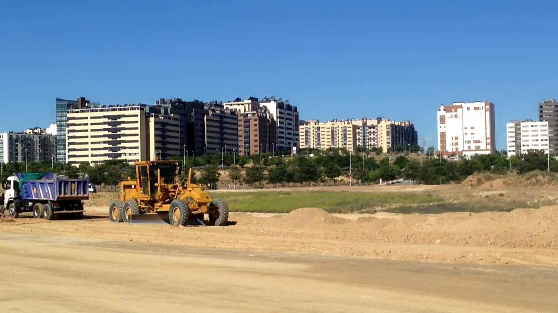 Foto: Obras de urbanización en Valdebebas.