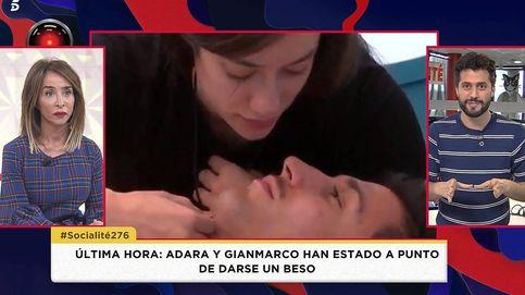 Adara y Gianmarco, a punto de besarse, según el programa de María Patiño