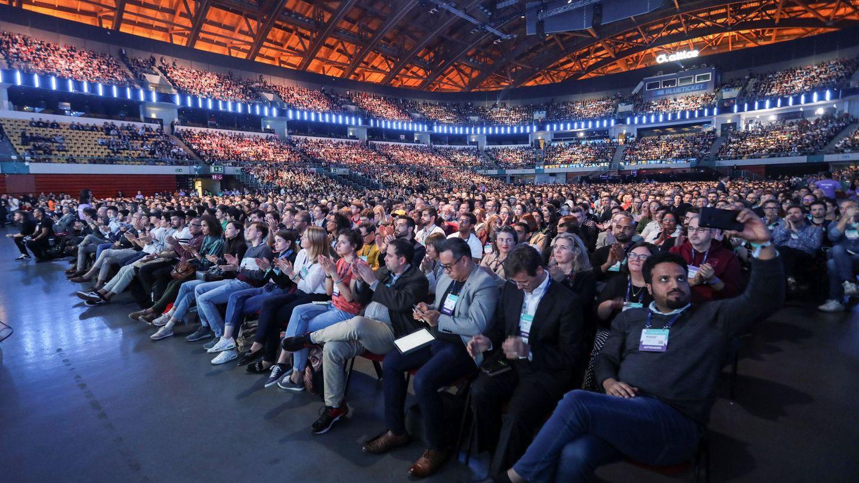 Participantes en el evento Web Summit de Lisboa en 2019, uno de los mayores eventos del mundo de 'startups' y emprendedores. (EFE)