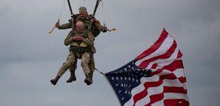 Post de Desembarco de Normandía: un veterano de 97 años repite su salto en paracaídas