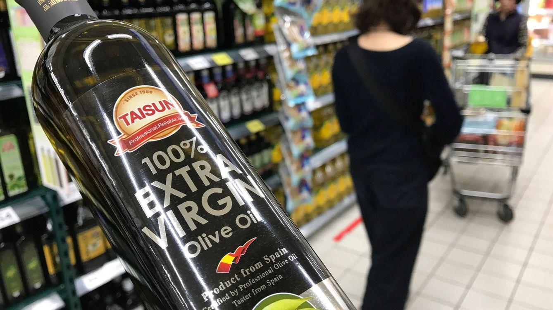 Foto: Aceite virgen extra español en Taiwán. (EFE)
