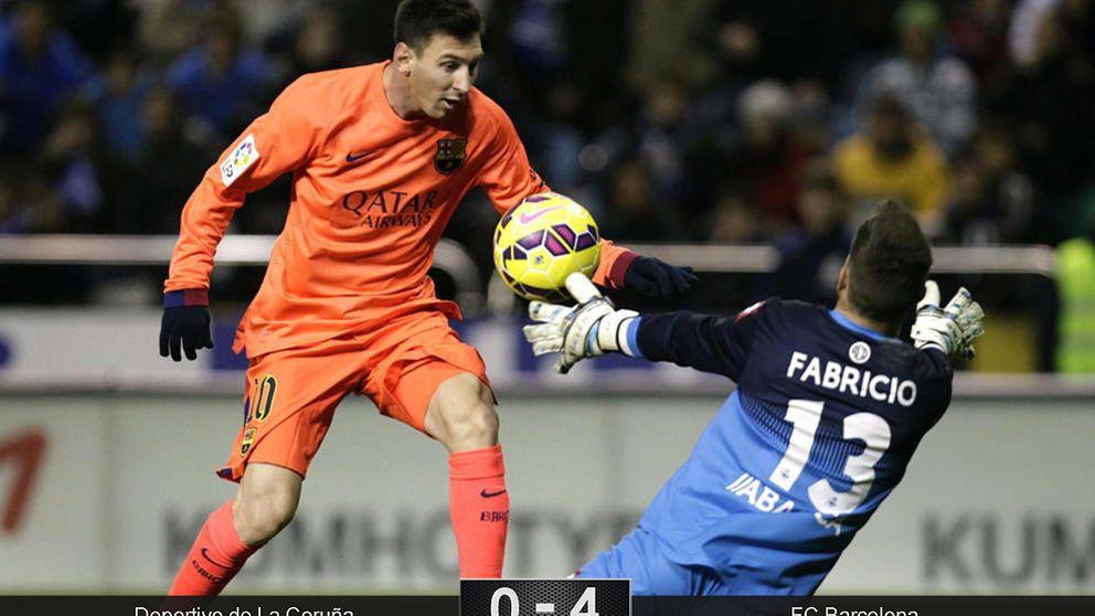 Luis Enrique deja de rotar y Messi vuelve a hablarse... con el gol