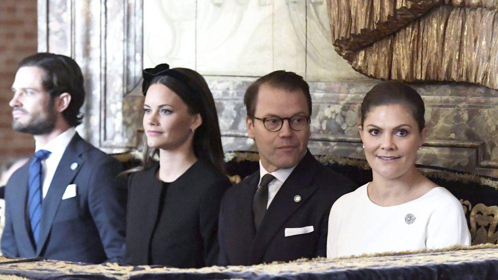 Foto: Los príncipes en la apertura del Parlamento sueco. (Cordon Press)