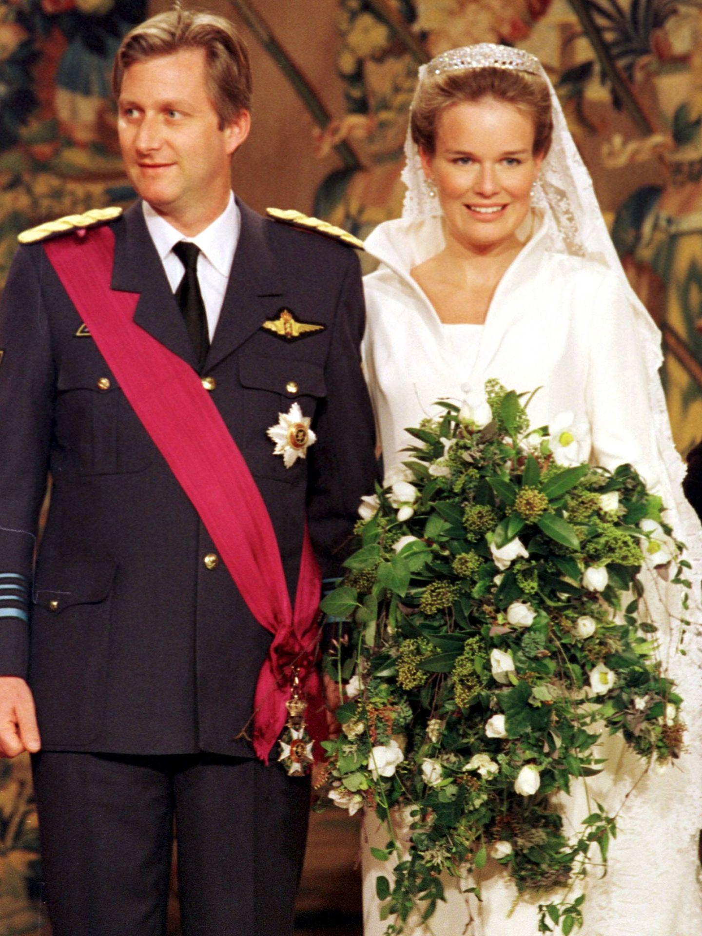 Felipe y Matilde, el día de su boda.