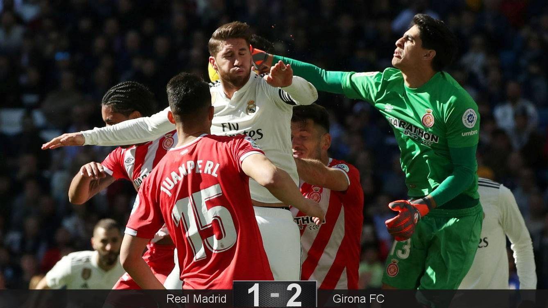 Foto: Ramos busca un balón. (EFE)