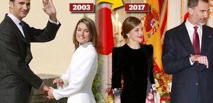 Post de Letizia se enfunda un Armani catorce años después de su pedida