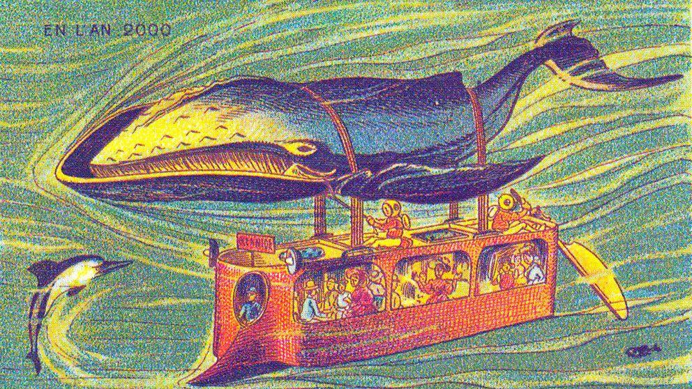 ¿Ballenas-autobús? Así imaginaron el transporte del futuro en el s. XX