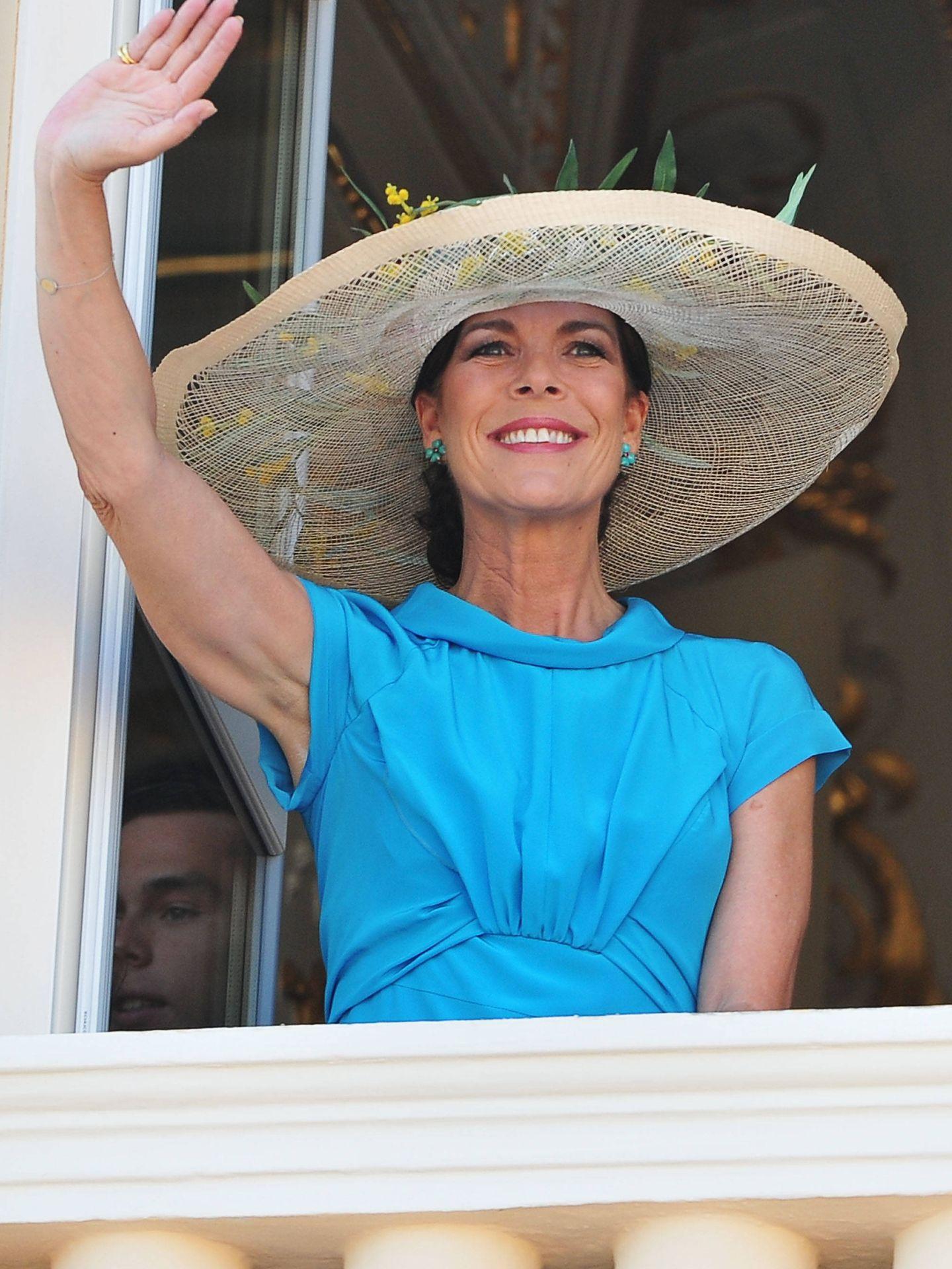 Carolina de Mónaco, en la boda civil de Alberto y Charlène. (Getty)