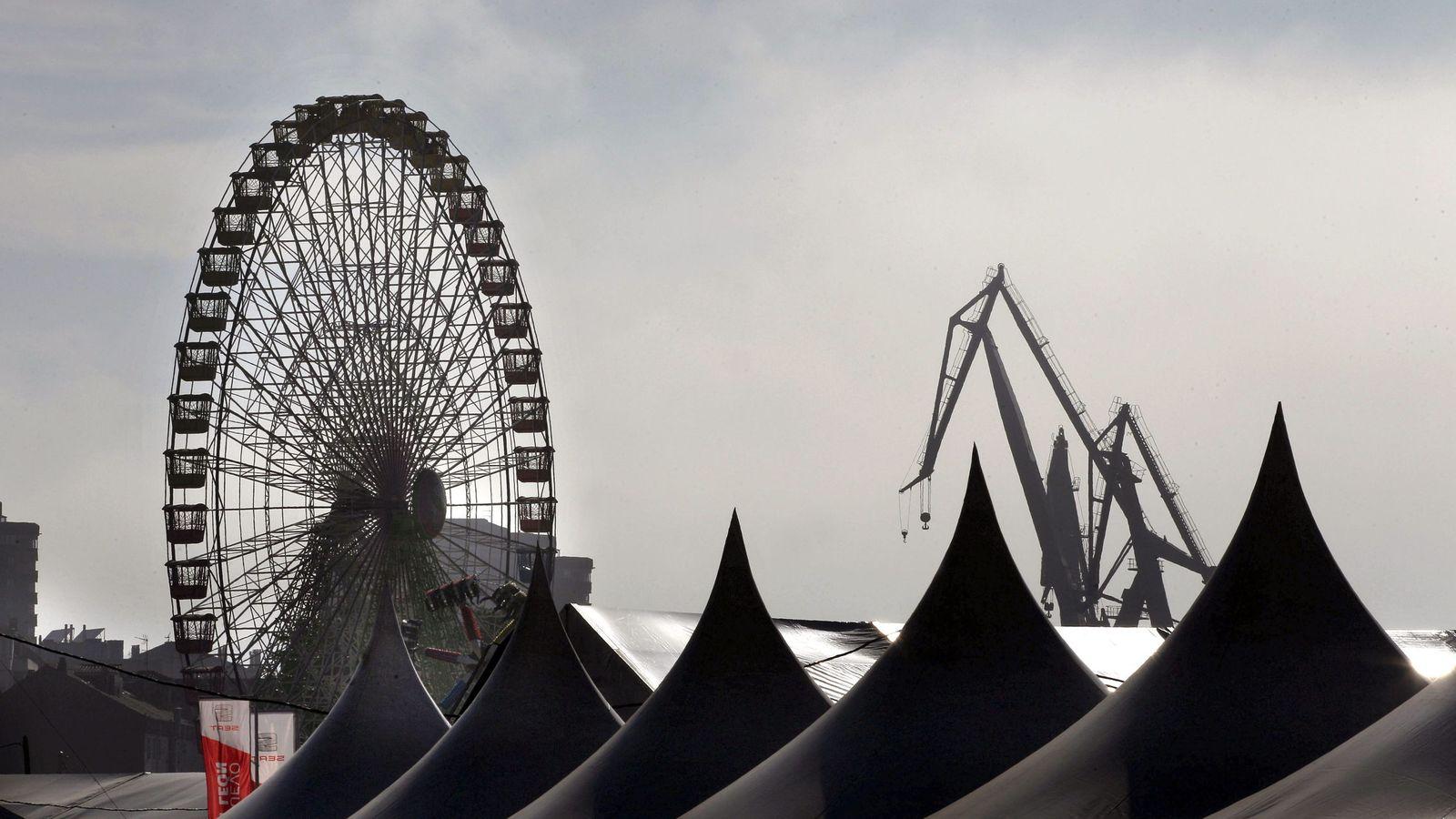 Foto: Perfil del recinto de la Semana Negra de Gijón