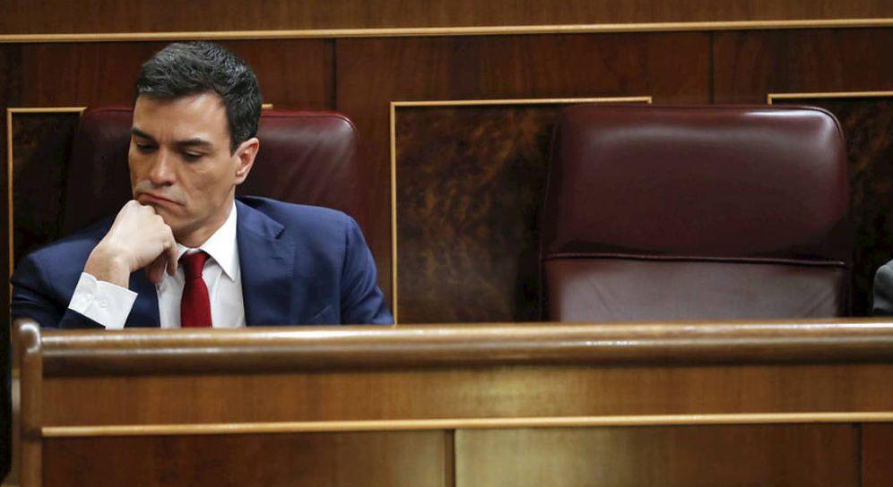 Foto: El jefe del Ejecutivo, Pedro Sánchez, en el Congreso. (EFE)