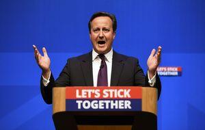 Cameron alerta sobre el fin del Reino Unido si gana el sí en Escocia