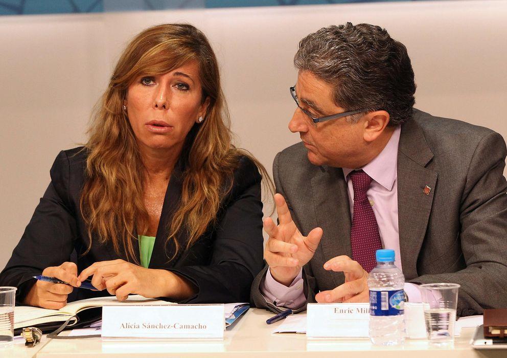 Foto:  La presidenta del PPC, Alicia Sánchez-Camacho, y el portavoz parlamentario del partido, Enric Millo. (Efe)