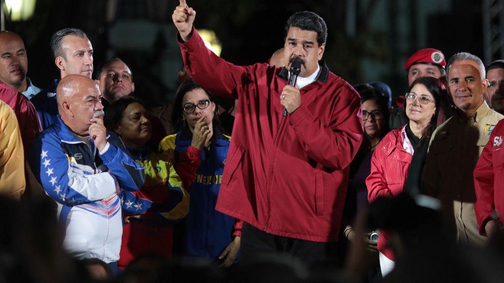 Foto: El presidente de Venezuela, Nicolás Maduro, celebra el resultado de las elecciones a la Constituyente. (Reuters)