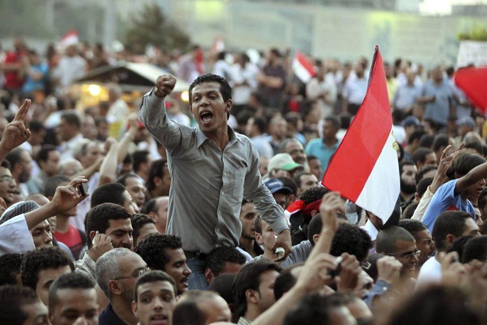 Foto: Manifestación contra Mubarak en la plaza Tahrir en 2012 (EFE)