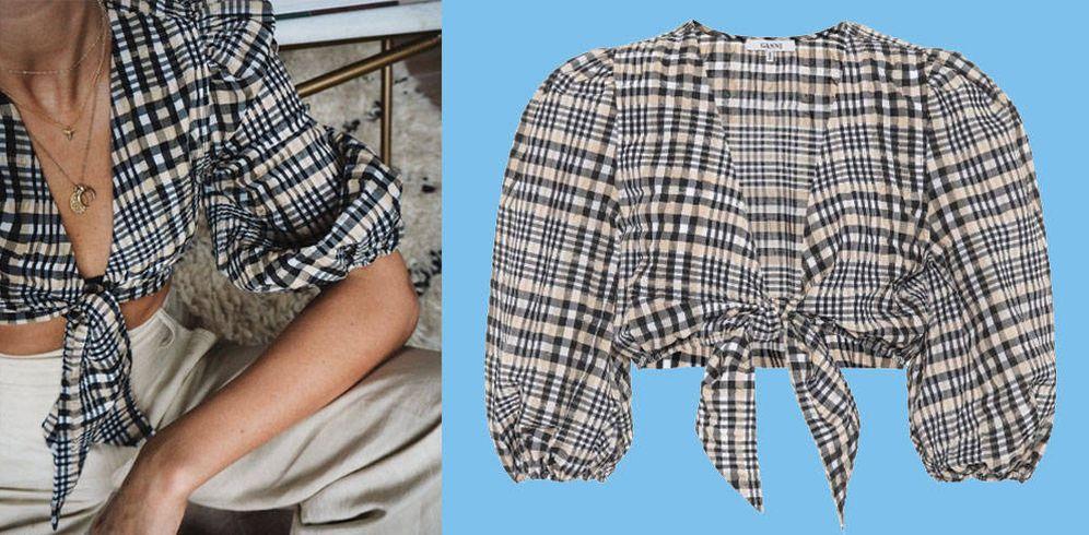Foto: La blusa anudada es la forma de enseñar ombligo en 2017.