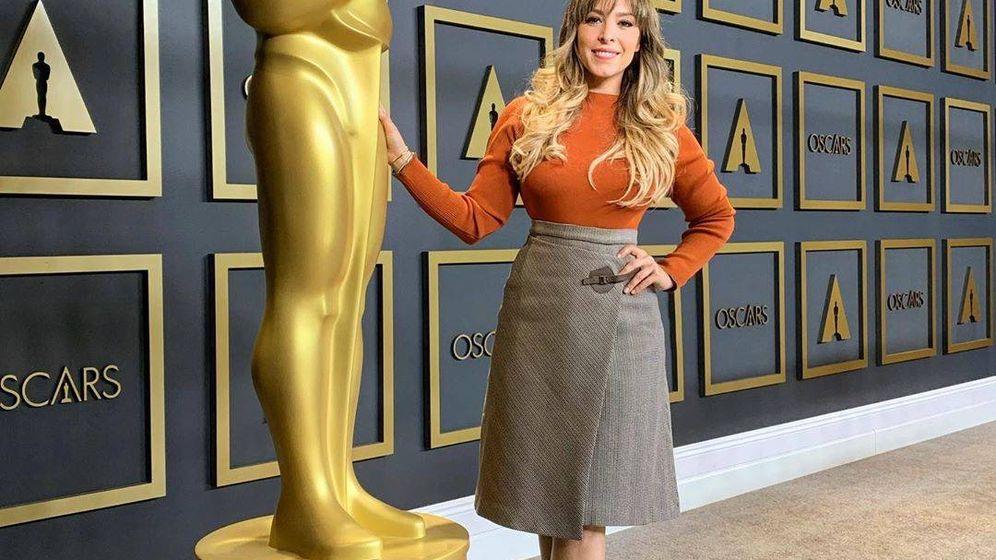 Foto: Gisela posando junto a un Oscar en Los Ángeles. (IG)