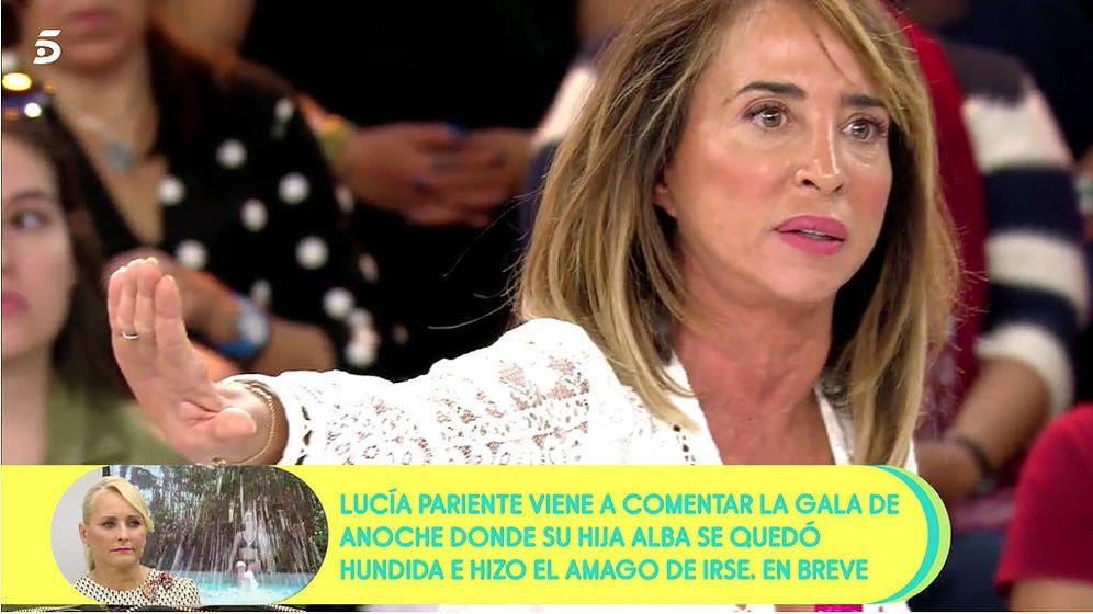 Foto: María Patiño, en 'Sálvame'. (Mediaset)