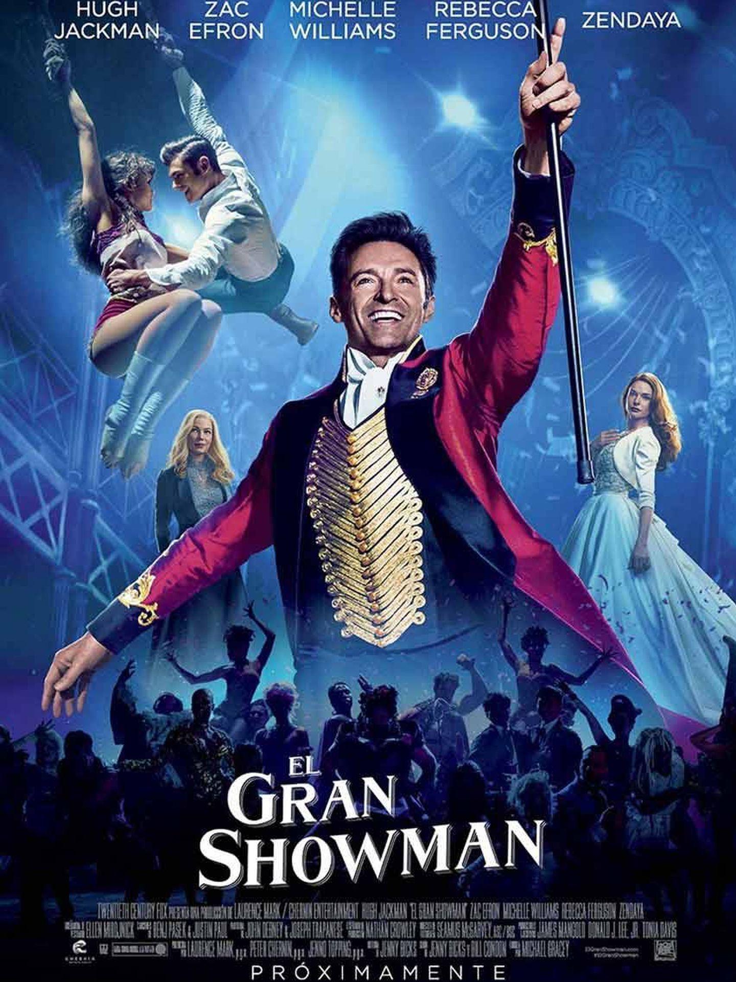 Cartel de 'El gran showman'.