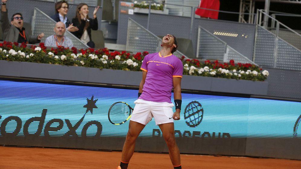 Foto: Así celebró Nadal su victoria ante Fognini. (EFE)