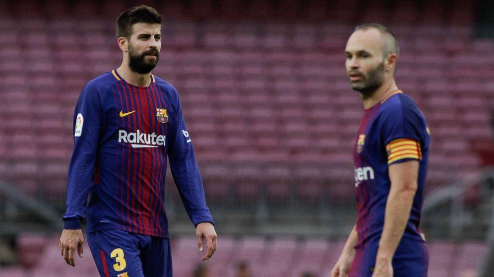 Foto: Gerard Piqué, durante el partido entre el FC Barcelona y la UD Las Palmas este domingo en el Camp Nou. (Cordon Press)
