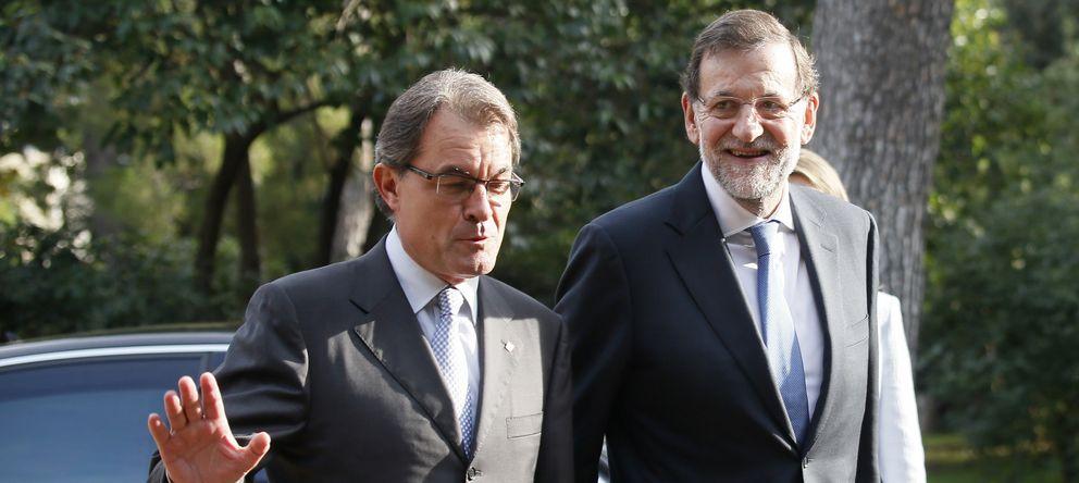 Foto: Mariano Rajoy y Artur Mas a su llegada al Foro Económico del Mediterráneo (Reuters).