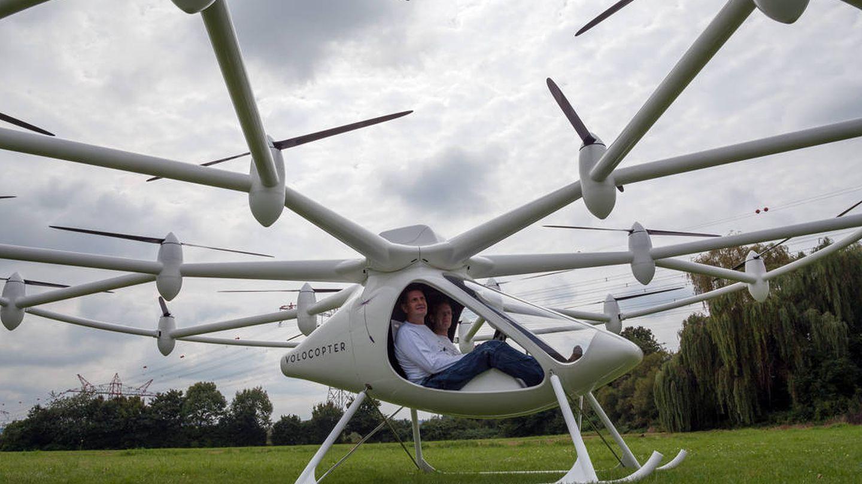 El 'volocopter' probado recientemente en Alemania.