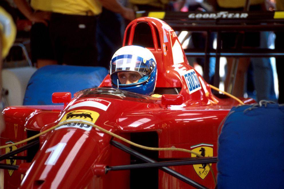 Foto: Alain Prost en su etapa como piloto de Ferrari (Imago).
